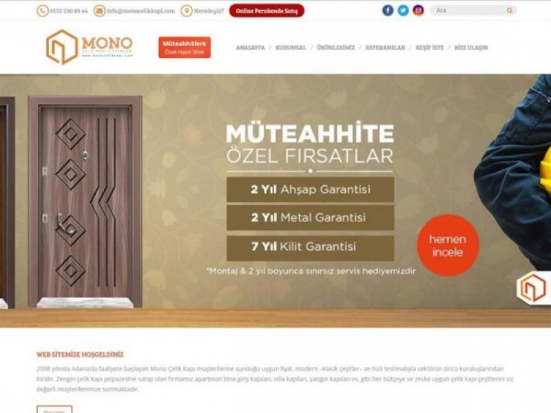 Mono Çelik Kapı Sistemleri